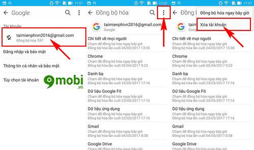 cach dang xuat gmail tren dien thoai xoa gmail 6