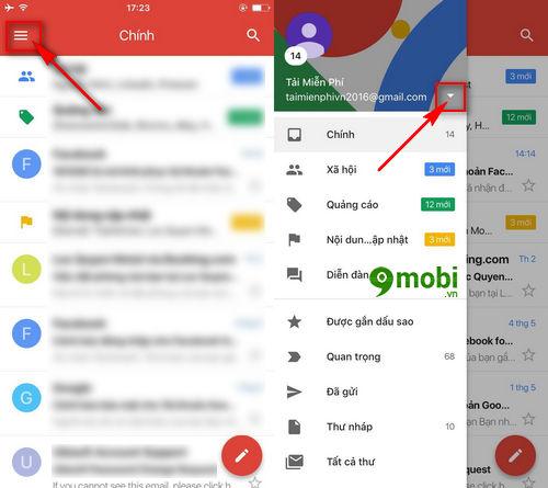 cach dang xuat gmail tren dien thoai xoa gmail 7