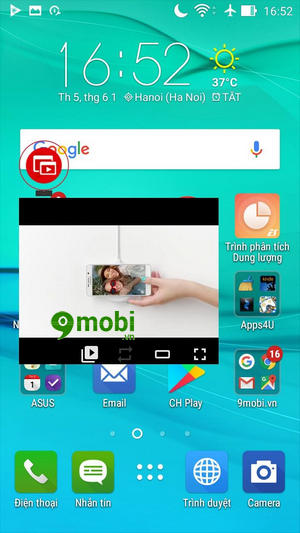 su dung che do pip mode tren youtube cho android 6