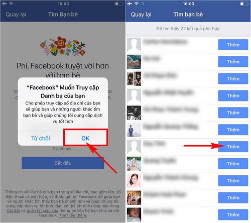 cach tim ban be tren facebook thong qua so dien thoai tren iphone ipad 6