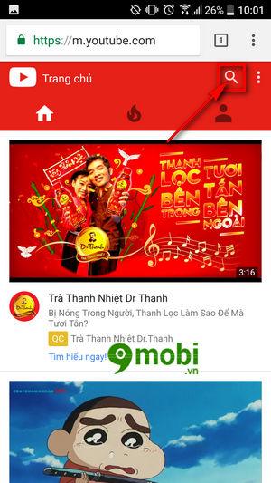 cach xem video youtube tren dien thoai khong can ung dung youtube 4
