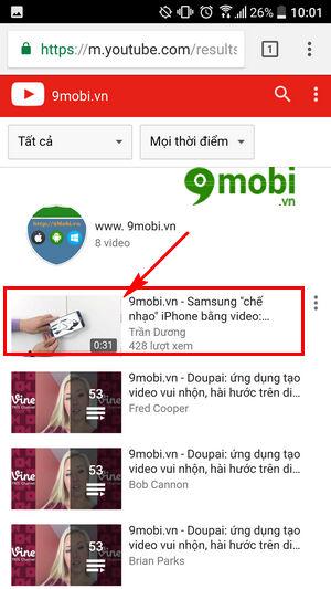cach xem video youtube tren dien thoai khong can ung dung youtube 5