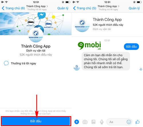 cach goi taxi bang facebook messenger tren dien thoai 3