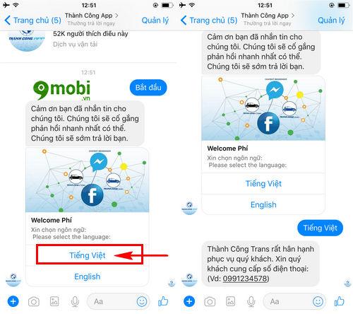 cach goi taxi bang facebook messenger tren dien thoai 4