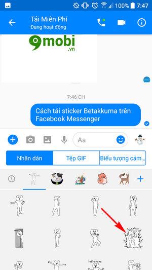 cach tai sticker betakkuma tren facebook messenger 7