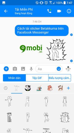 cach tai sticker betakkuma tren facebook messenger 8