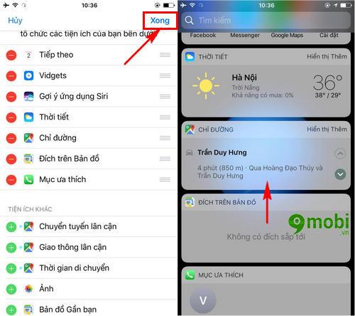 xem huong dan chi duong tren man hinh khoa iphone bang google maps 7