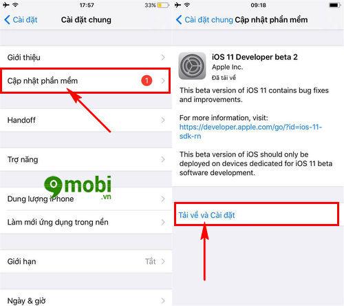 huong dan nang cap ios 11 beta 2 cho iphone ipad 3