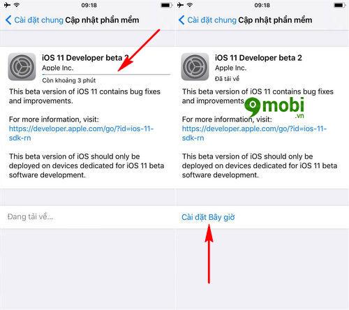 huong dan nang cap ios 11 beta 2 cho iphone ipad 4