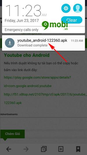 sua loi khong cai dat ban cap nhat youtube tren ch play loi 501 5