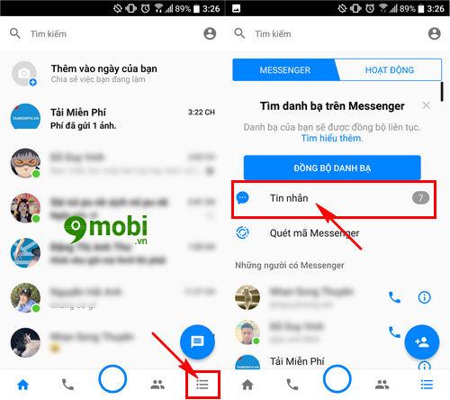 cach xem tin nhan facebook messenger bi an 4