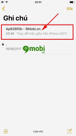 thay doi kieu giay ghi chu tren iphone ios 11 3