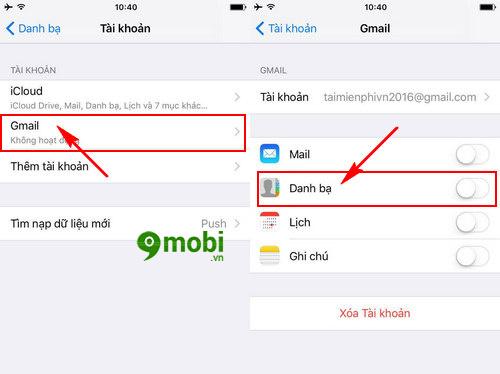 cach xuat luu danh ba iphone vao gmail 3