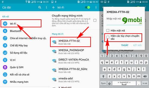 sua loi dien thoai khong vao duoc wifi 8