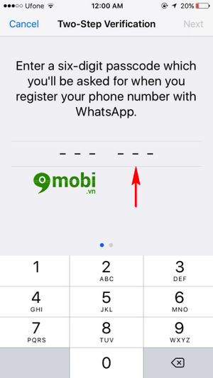bat tat xac minh 2 buoc whatsapp tren iphone 8