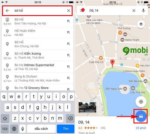 dat xe uber bang google maps tren dien thoai 3