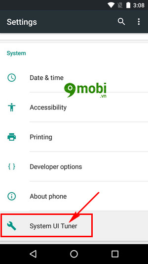 xoa che do system ui tuner tren android go system ui mode 3