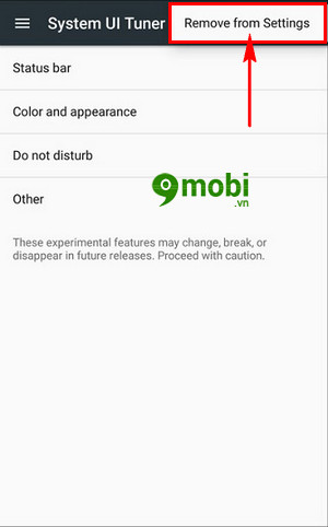 xoa che do system ui tuner tren android go system ui mode 5