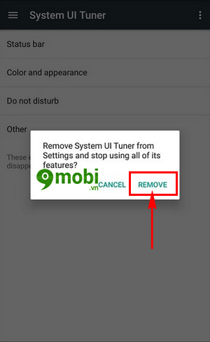 xoa che do system ui tuner tren android go system ui mode 6