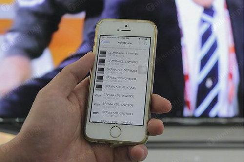 cach dieu khien tivi sony bang iphone 3