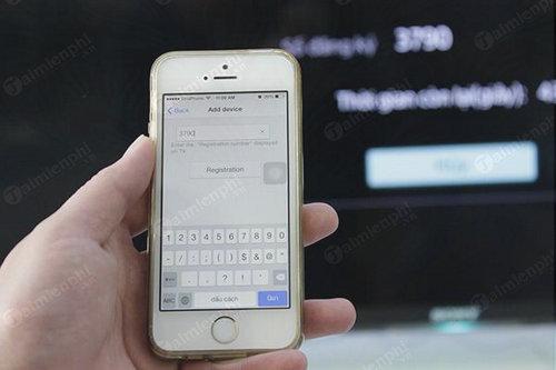 cach dieu khien tivi sony bang iphone 4