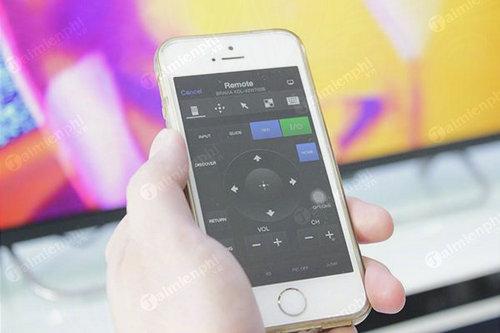 cach dieu khien tivi sony bang iphone 7