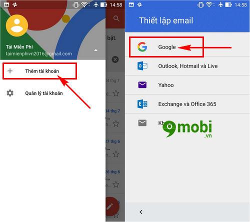 cach dang nhap gmail moi tren dien thoai zenfone 3