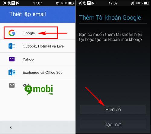 dang nhap gmail tren oppo joy