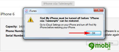 huong dan restore iphone bang itunes dung cach 4