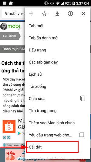 huong dan chan quang cao tu mo tab moi khi vao web bang dien thoai 3