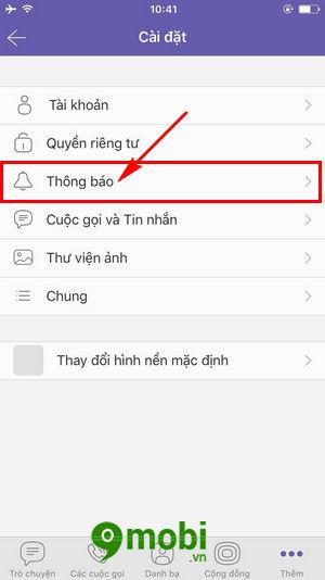 bat tat xem truoc tin nhan tren viber cho iphone android 5