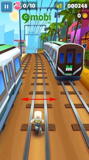 cach choi subway surfers tren dien thoai game luot van 5