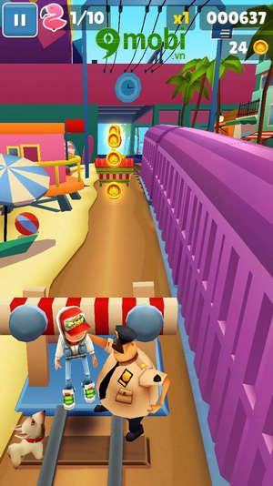 cach choi subway surfers tren dien thoai game luot van 7