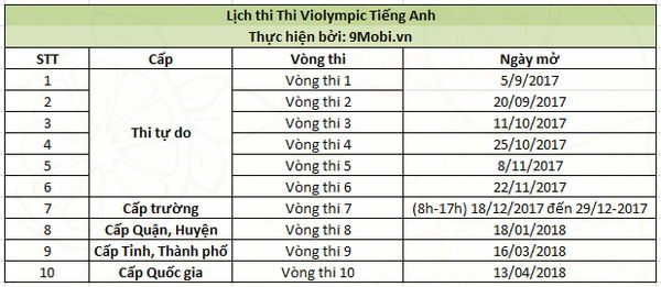 lich thi violympic toan tieng anh vat ly 2017 2018 3
