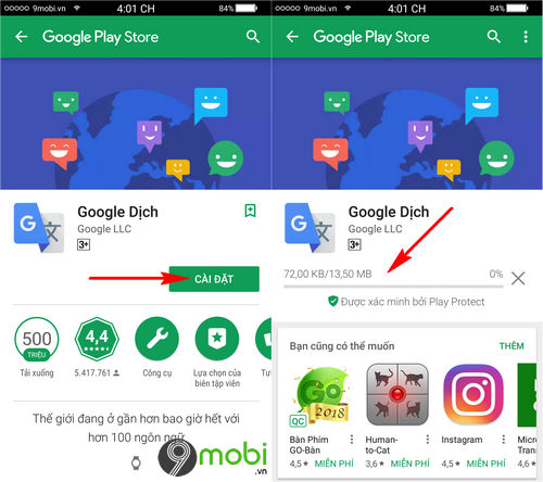 cach tai google dich cho dien thoai android iphone 3