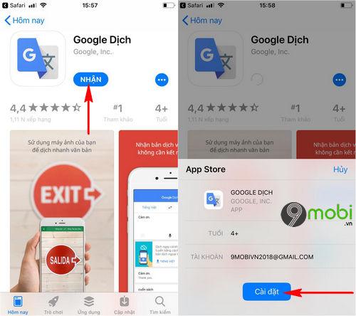 cach tai google dich cho dien thoai android iphone 6