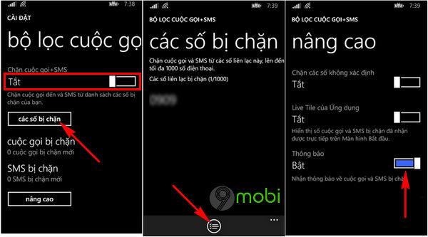 chan cuoc goi tren dien thoai lumia windows phone 8 1 3