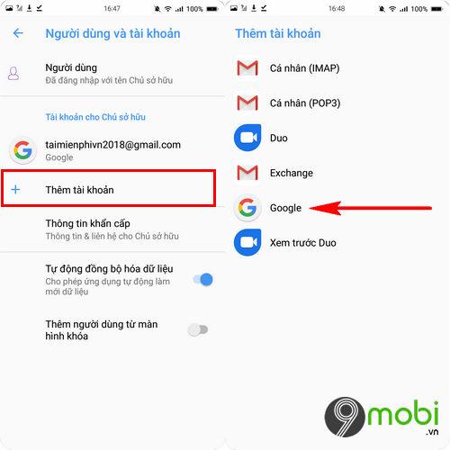 copy danh ba tu android sang bphone 3 6