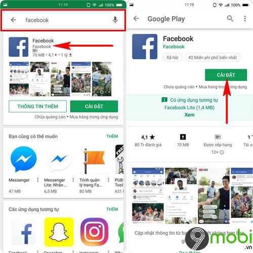 cach tai facebook cho bphone 3 3