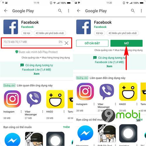 cach tai facebook cho bphone 3 4
