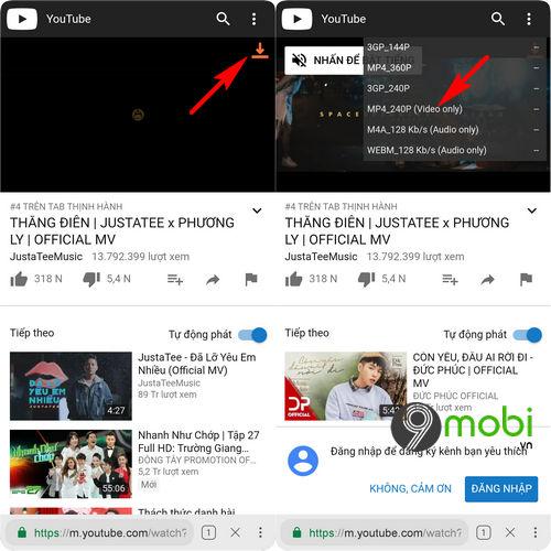 cach tai video youtube tren bphone 3 3