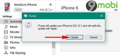 huong dan cap nhat ios 12 1 cho iphone ipad bang itunes va ota 5