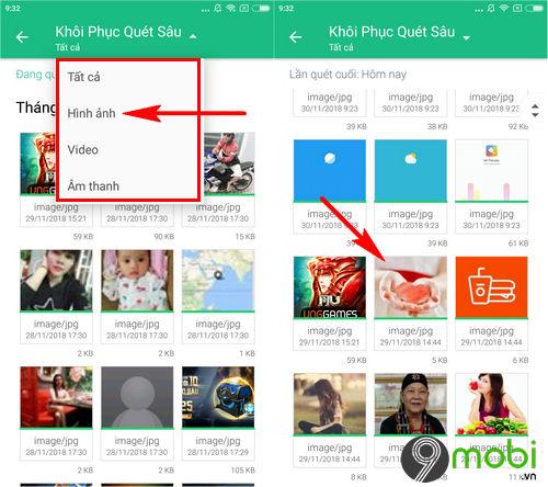 huong dan cach phuc hoi file da xoa tren dien thoai android 6