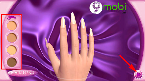 hoc lam mong voi ung dung fashion nails 3d girls game 4