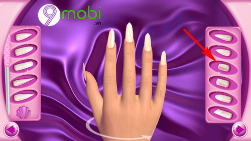 hoc lam mong voi ung dung fashion nails 3d girls game 5