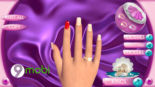 hoc lam mong voi ung dung fashion nails 3d girls game 8