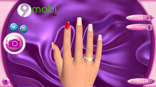 hoc lam mong voi ung dung fashion nails 3d girls game 9