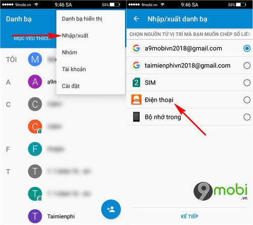 cach chuyen danh ba tu android sang iphone bang gmail 3
