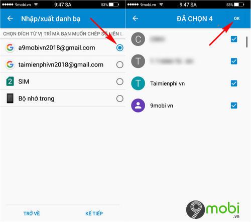 cach chuyen danh ba tu android sang iphone bang gmail 4