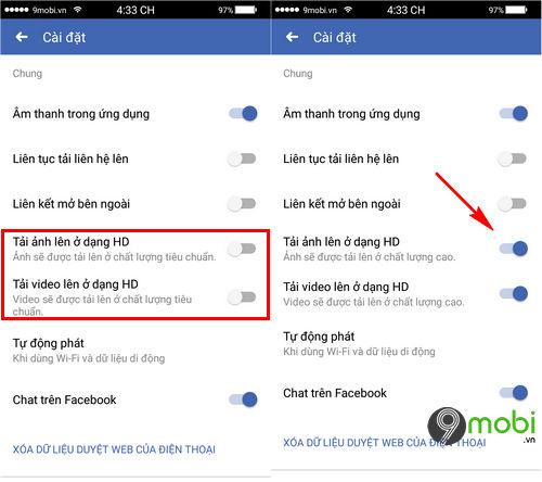 cach tai anh va video chat luong cao len facebook tren dien thoai 3